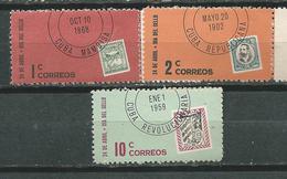 CUBA  Scott# 670/672 ** MNH Stamp Day 1961 - Cuba