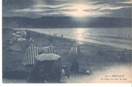 Postal De Hendaye, La Plage Au Clair De Lune. - Hendaye