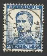 Belgium,  25 C. 1912, Sc # 105, Mi # 102II, Used - 1912 Pellens