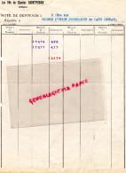 ALGERIE - ORAN - FACTURE LES FILS DE CHARLES SAINTPIERRE - ANNEES 40 - Invoices & Commercial Documents