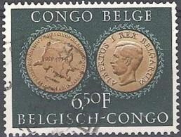 Congo Belge 1954 Michel 321 O Cote (2002) 0.30 Euro 25 Ans Institut Royal Colonial Cachet Rond - Congo Belge