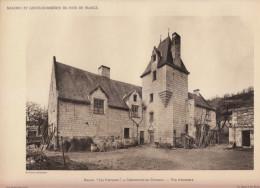 1928 - Héliogravure - Chênehutte-les-Tuffeaux (Maine-et-Loire) - Le Manoir Les Fontaines - FRANCO DE PORT - Old Paper