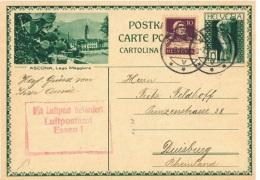CAC-L2 - SUISSE Entier Postal Carte Illustrée De ASCONA Lago Maggiore Avec Cactus Au Premier Plan Expédié Par Avion - Interi Postali