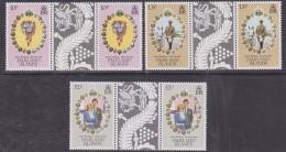 Falkland Islands 1981 Royal Wedding 3v  Gutter ** Mnh (30154) - Falklandeilanden