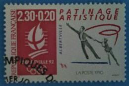"France 1990  : ""Albertville 92"", Patinage Artistique N° 2633 Oblitéré - Frankreich"