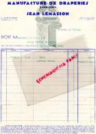 87 - LIMOGES - FACTURE JEAN LEMASSON - MANUFACTURE DRAPERIES DOUBLURES- 4 RUE TURGOT- 1935 - Factures & Documents Commerciaux