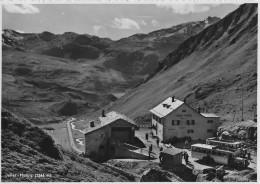 JULIER - HOSPIZ → Zwei Alte Saurer Postauto (3-Achser) Beim Hospiz Mit Fahrgästen, Ca.1950 - GR Grisons