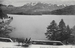 SILS → Silsersee Mit Corvatsch Und Pferdegespann Auf Der Seestrasse, Ca.1900 - GR Grisons