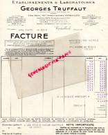 78 - VERSAILLES - FACTURE GEORGES TRUFFAUT - LALORATOIRES- 90 AV. PARIS-1935 - France