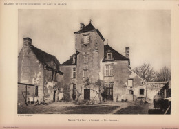 1928 - Héliogravure - Louerre (Maine-et-Loire) - Le Manoir Le Vau - FRANCO DE PORT - Old Paper