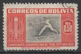 BOLIVIA 1951 Sports - 50c Tennis FU - Bolivien