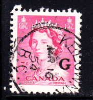 Canada Used Scott #O35 3c Queen Elizabeth II Karsh - ´G´ Overprint CDS 'Kelowna BC' - Officials