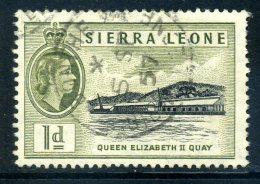 Sierra Leone 1956-61 QEII Definitives - 1d Queen Elizabeth II Quay Used (SG 211) - Sierra Leone (...-1960)