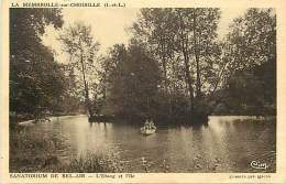 - Indre Et Loire -ref A592- La Membrolle Sur Choisille - Sanatorium De Bel Air - Etang Et Ile - Sanatoriums - Sante - - Autres Communes