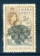 Sierra Leone 1956-61 QEII Definitives - 2d The Cotton Tree Used (SG 213) - Sierra Leone (...-1960)