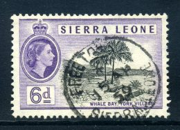 Sierra Leone 1956-61 QEII Definitives - 6d Whale Bay Used (SG 216) - Sierra Leone (...-1960)