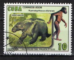 CUBA - 2008 - UOMINI E ANIMALI DEL PALEOLITICO - USATO - Used Stamps