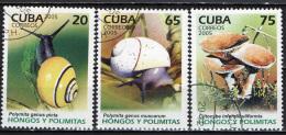 CUBA - 2005 - LUMACHE E FINGHI - USATI - Used Stamps