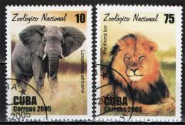 CUBA - 2005 - ANIMALI DELLO ZOO - USATI - Used Stamps