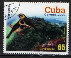 CUBA - 2003 - ECOTURISMO: SIERRA MAESTRA ED UCCELLI - USATO - Used Stamps
