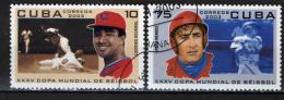 CUBA - 2003 - CAMPIONI DI BASEBALL: JAVIER MENDEZ E LOURDES GOURRIEL - USATI - Used Stamps