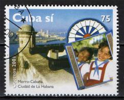 CUBA - 2001 - TURISMO A CUBA: MORRO-CABANA - CITTA' DELL'AVANA - USATO - Used Stamps