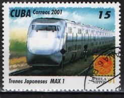 CUBA - 2001 - TRENO GIAPPONESE: MAX 1 - USATO - Used Stamps