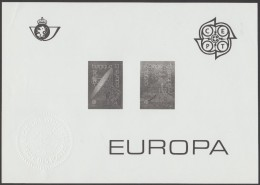 Belgique 1988 Y&T 2283/4. Feuillet Noir Avec Sceau à Sec De La Poste. Europa, Transports & Moyens De Communication - Europa-CEPT