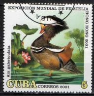 CUBA - 2001 - ESPOSIZIONE MONDIALE DI FILATELIA AD HONG KONG - UCCELLO - BIRD - USATO - Used Stamps