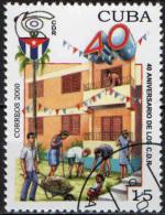 CUBA - 2000 - COMITATO PER LA DIFESA DELLA RIVOLUZIONE - 40° ANNIVERSARIO - USATO - Used Stamps