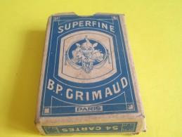 Jeu De Cartes/BP GRIMAUD/Paris /54 Cartes/Superfine/Années 30    JE141 - Group Games, Parlour Games