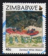 Zimbabwe - 2015 Victoria Falls 40c Rafting (o) - Rafting