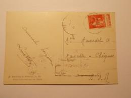 Marcophilie  Cachet Obliteration Timbre  - CPA SOSPEL - N°283 Avec Pub Journal L'ART VIVANT (550) - Marcophilie (Lettres)