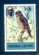 Sierra Leone 1983 Birds - 1983 Imprint Date - 20c African Wood Owl Used (SG 767) - Sierra Leone (1961-...)