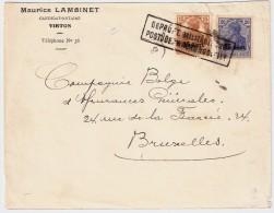 Etapes 15 + 25 C., Virton A Bruxelles  , #5803 - Weltkrieg 1914-18