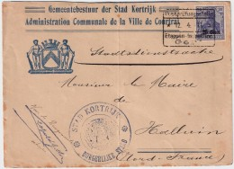 """1917, Etapes 25 C. """" Stadt Kortrijk """"  , #5804 - Guerre 14-18"""