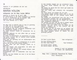 Maria Volon (1922-1982) - Devotion Images