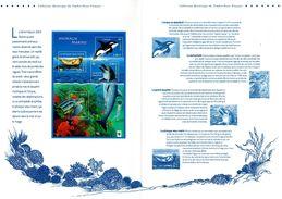 """FRANCE 2002 : Beau Document Philatelique Officiel De 4 Pages """" LES ANIMAUX MARINS """" N° YT BF 48. Parfait état DPO - Briefmarken"""