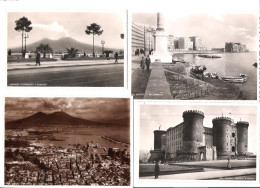 Italy - 4 Cards - Napoli - Neapel - Maschio Angioino - Litoranea - Vesuvo - Partenope - Old Cards - Napoli (Naples)