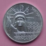 """Pièce De 100 Francs 1986 """" Statue De La Liberté """" - Argent 900/1000 - France"""