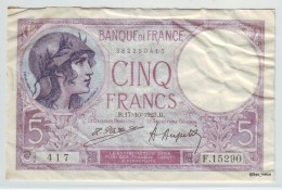 5 FRANCS Violet Type 1917 - 17/10/1923 - 1871-1952 Antiguos Francos Circulantes En El XX Siglo