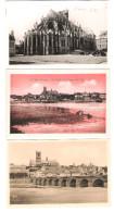 France - 3 Cards - NEVERS - NIEVRE - Cathedrale Saint Cyr - Les Bords De La Loire Et La Ville - Old Cards - Nevers