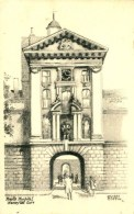MISCELLANEOUS ART - LONDON - BARTS HOSPITAL - HENRY VIII GATE - ERNEST COFFIN Art52 - London