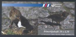 Iles Féroé 1999 Oiseaux Carnet Yv. C 348 / Mi. MH 17 ** - Faroe Islands