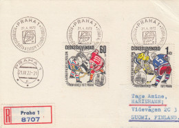EISHOCKEY-ICEHOCKEY-HOCKE Y SUR GLACE-HOCKEY SU GHIACCIO, CSR/CSSR, 1972, RECO/Special Postmark !! - Hockey (su Ghiaccio)