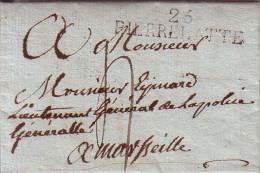 DROME - 25 PIERRELATTE - LETTRE DU 9 AVRIL 1819 DE ST PAUL 3 CHATEAUX  AVEC TEXTE ET SIGNATURE - INDICE 7 - - Marcophilie (Lettres)