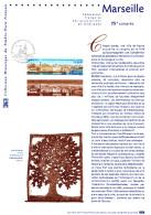 """(Prix à La Poste = 5.00 €) Document Philatélique Officiel De 2002 """" MARSEILLE """" N° YT 3489. - Postdokumente"""
