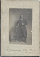 Photographie De Studio Montée Sur Carton / Zouave En Pied/L Jacques/Rue De Sévres/Paris/Vers 1914    PHOT182 - 1914-18