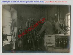Fabrique D'EAU Minerale Gazeuse-Remplissage-Technique-NON SITUEE-Grosse Photo Allemande-Guerre 14-18-1 WK-Militaria- - Guerre 1914-18