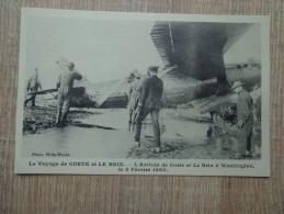 CPA AVIATION  AVIATEURS ARRIVEE DE COSTE ET LE BRIX A WASHINGTON 1928 - Aviateurs